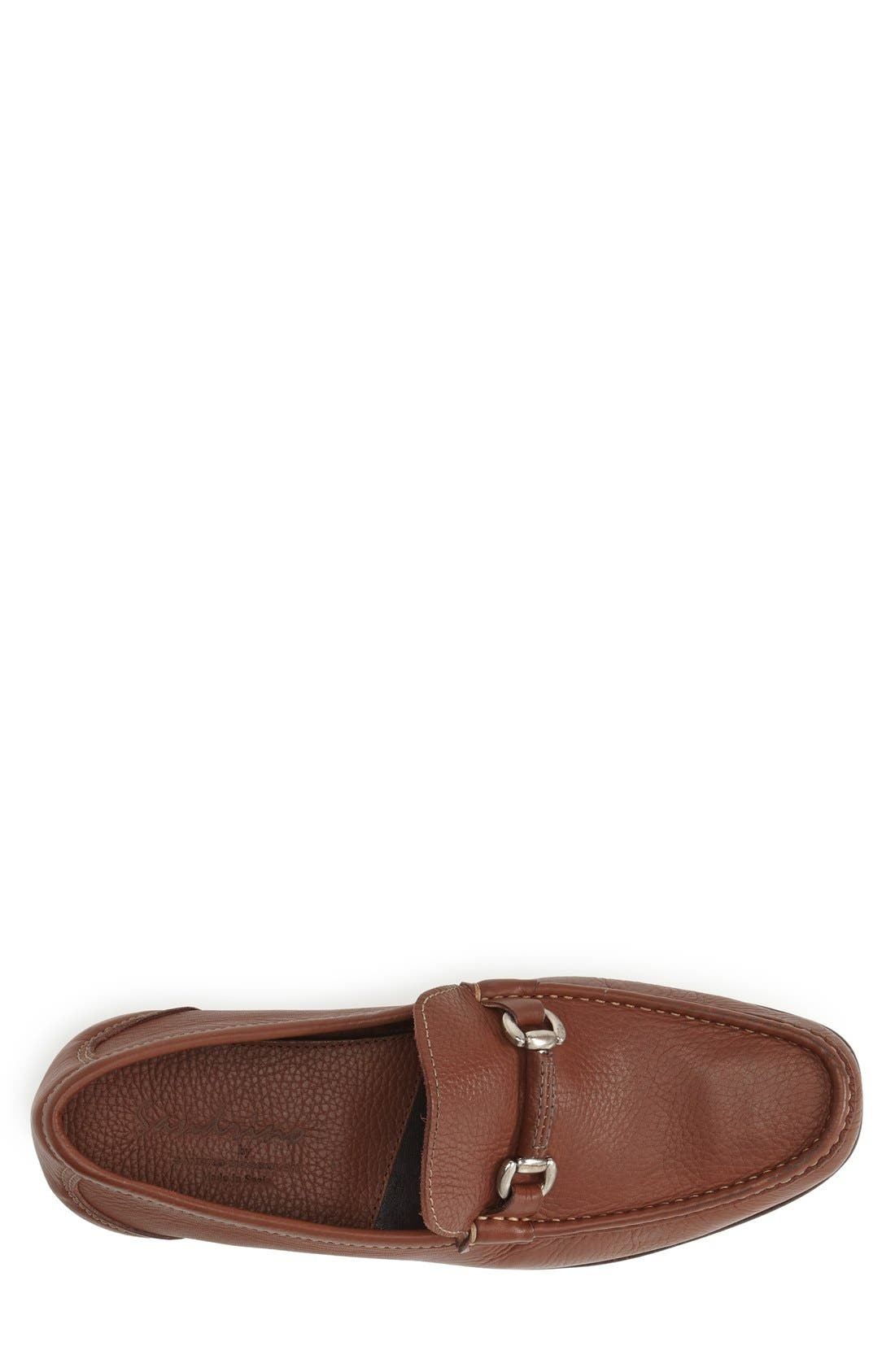 'San Remo' Leather Bit Loafer,                             Alternate thumbnail 3, color,                             Brown