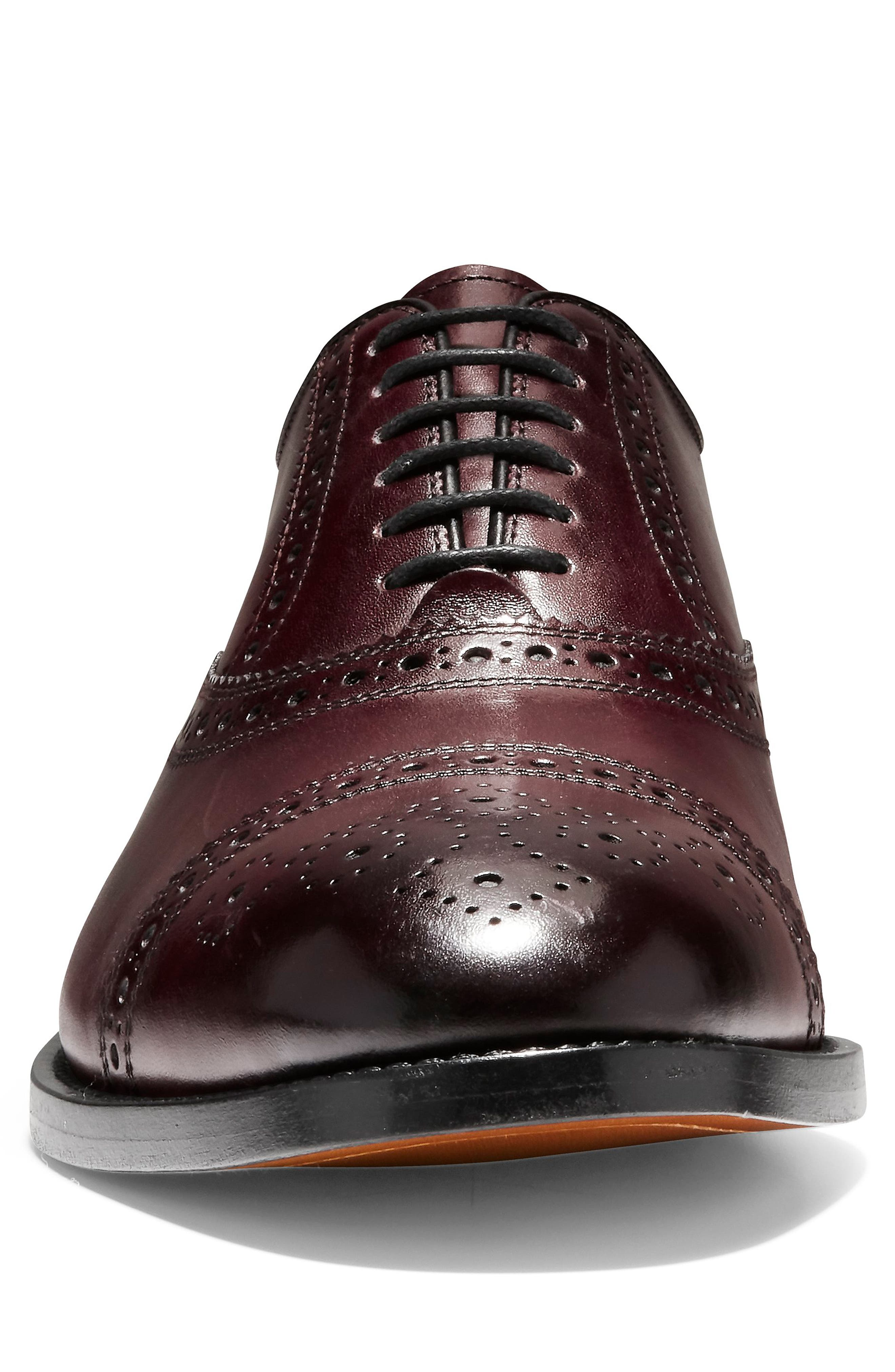 American Classics Kneeland Cap Toe Oxford,                             Alternate thumbnail 7, color,                             Oxblood Leather