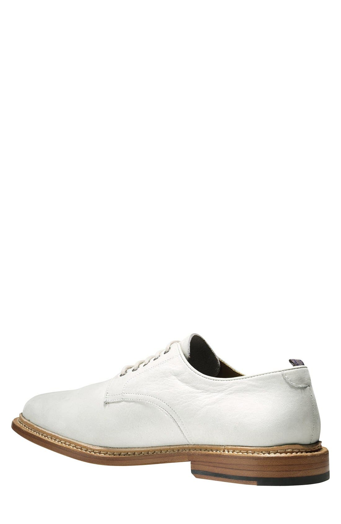 'Willet' Nubuck Plain Toe Derby,                             Alternate thumbnail 3, color,                             Ivory