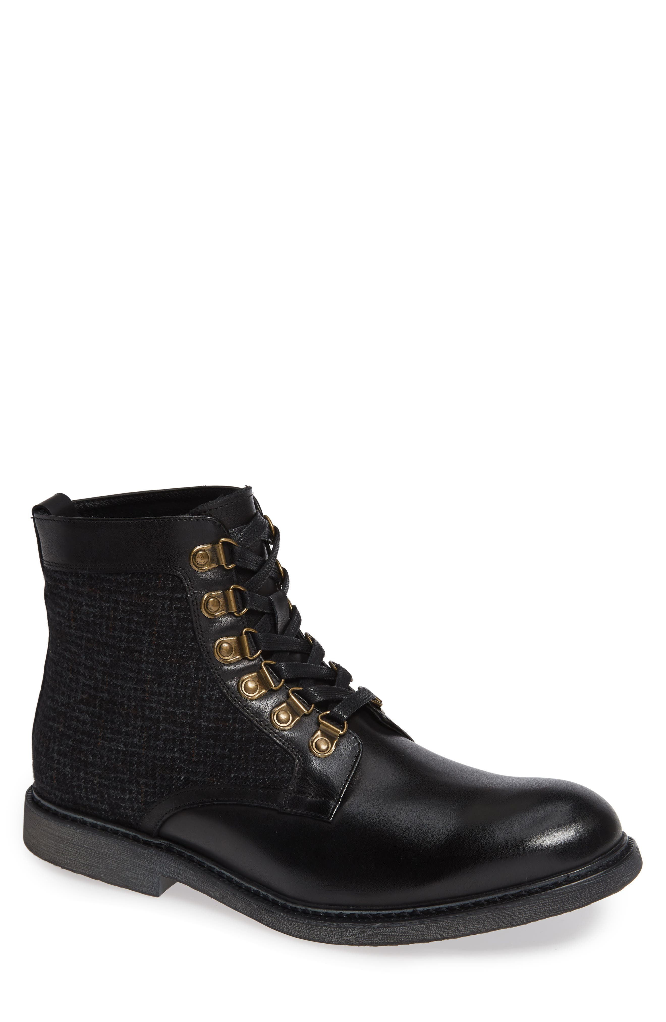 ENGLISH LAUNDRY Bradford Textured Suede Boot in Black