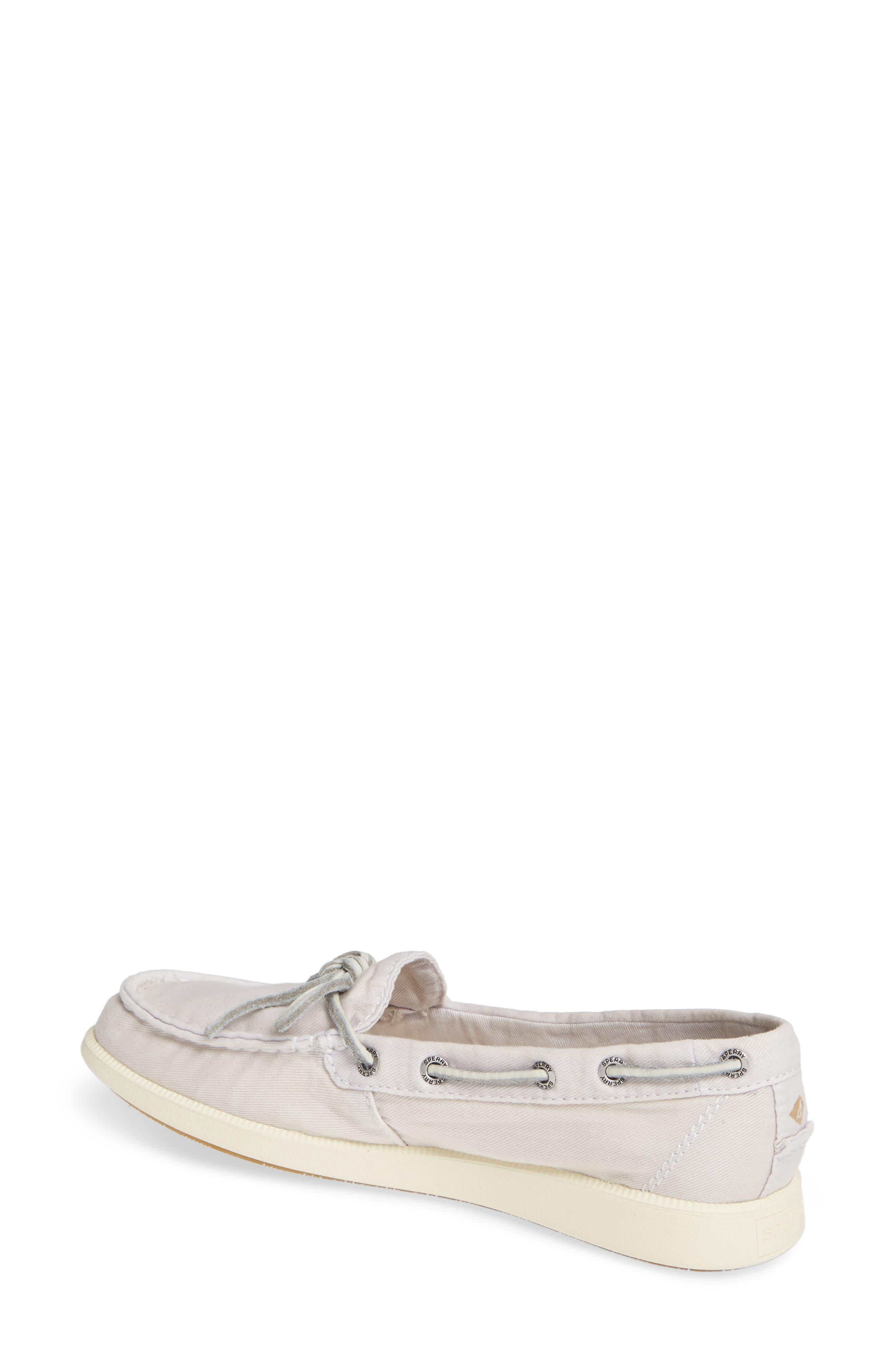 Oasis Boat Shoe,                             Alternate thumbnail 2, color,                             Ivory Canvas