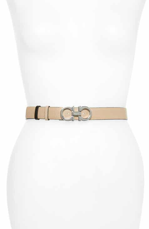 bf64eeb11157 Salvatore Ferragamo Double Gancio Reversible Leather Belt