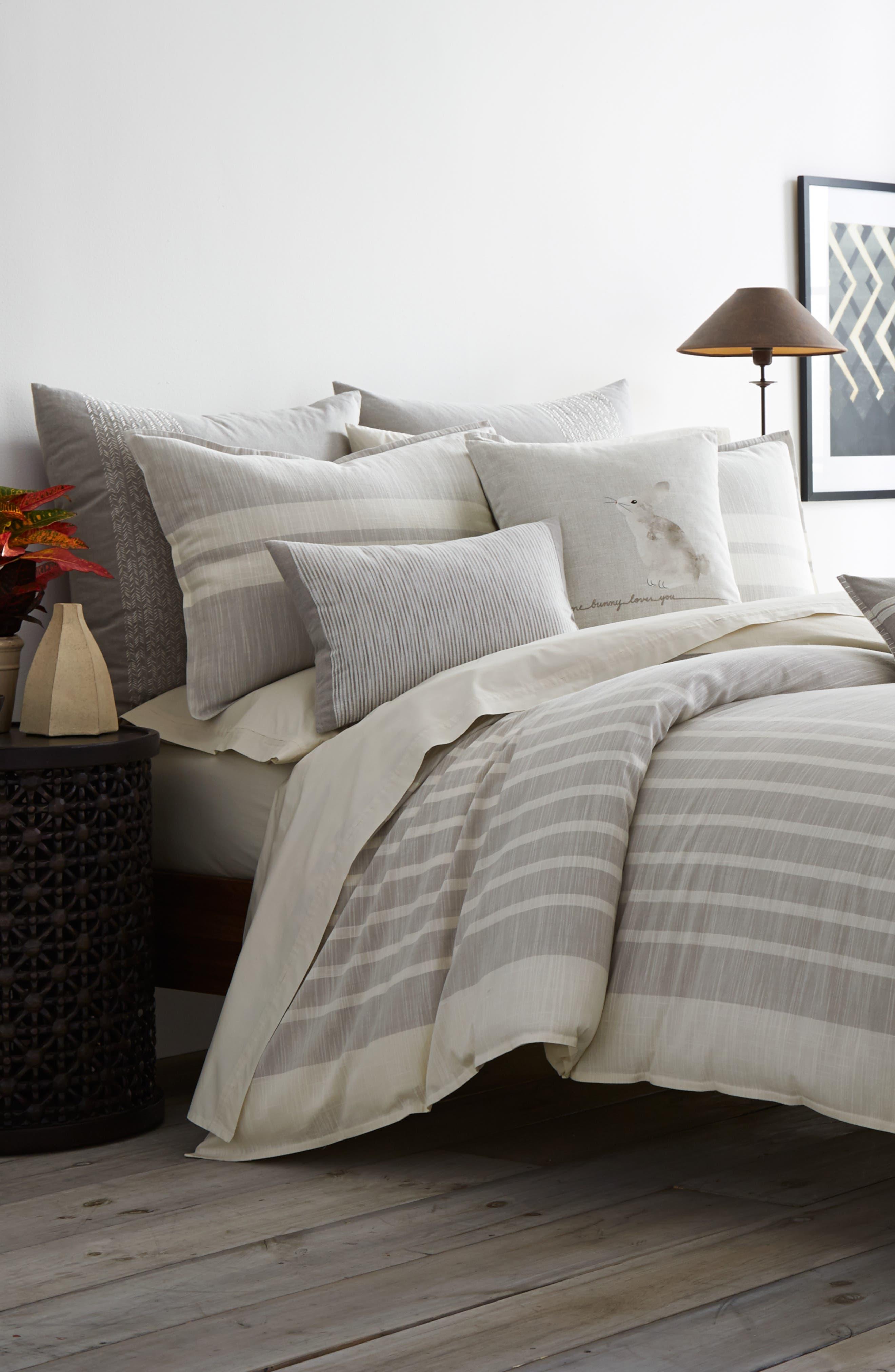 Claremont Duvet Cover,                         Main,                         color, Pastel Grey