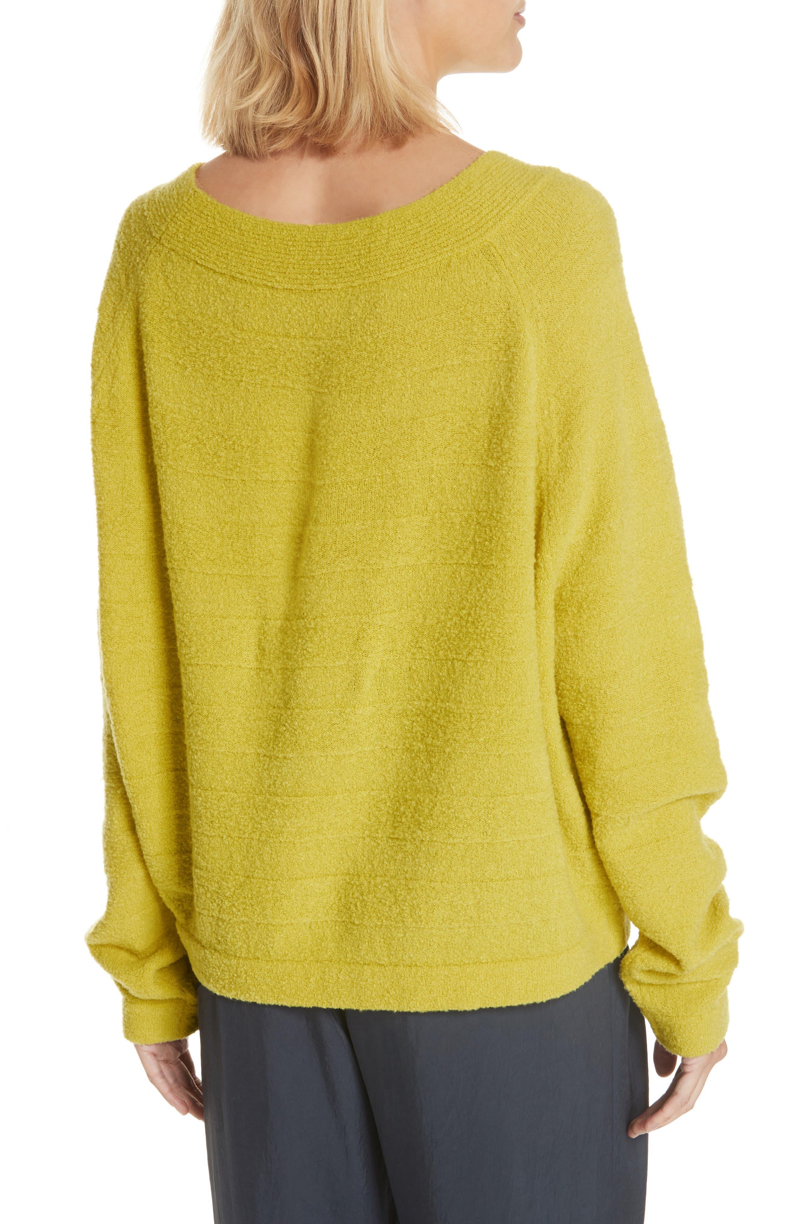 Merino Wool Blend Knit Sweater,                             Alternate thumbnail 2, color,                             Zest