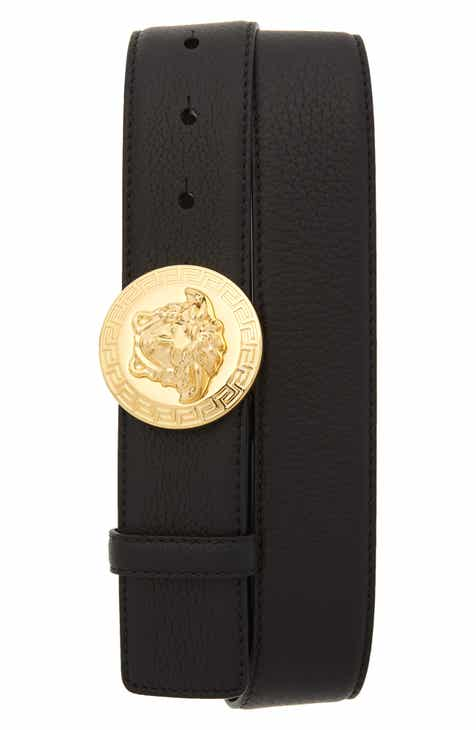 Versace Circular Medusa Leather Belt