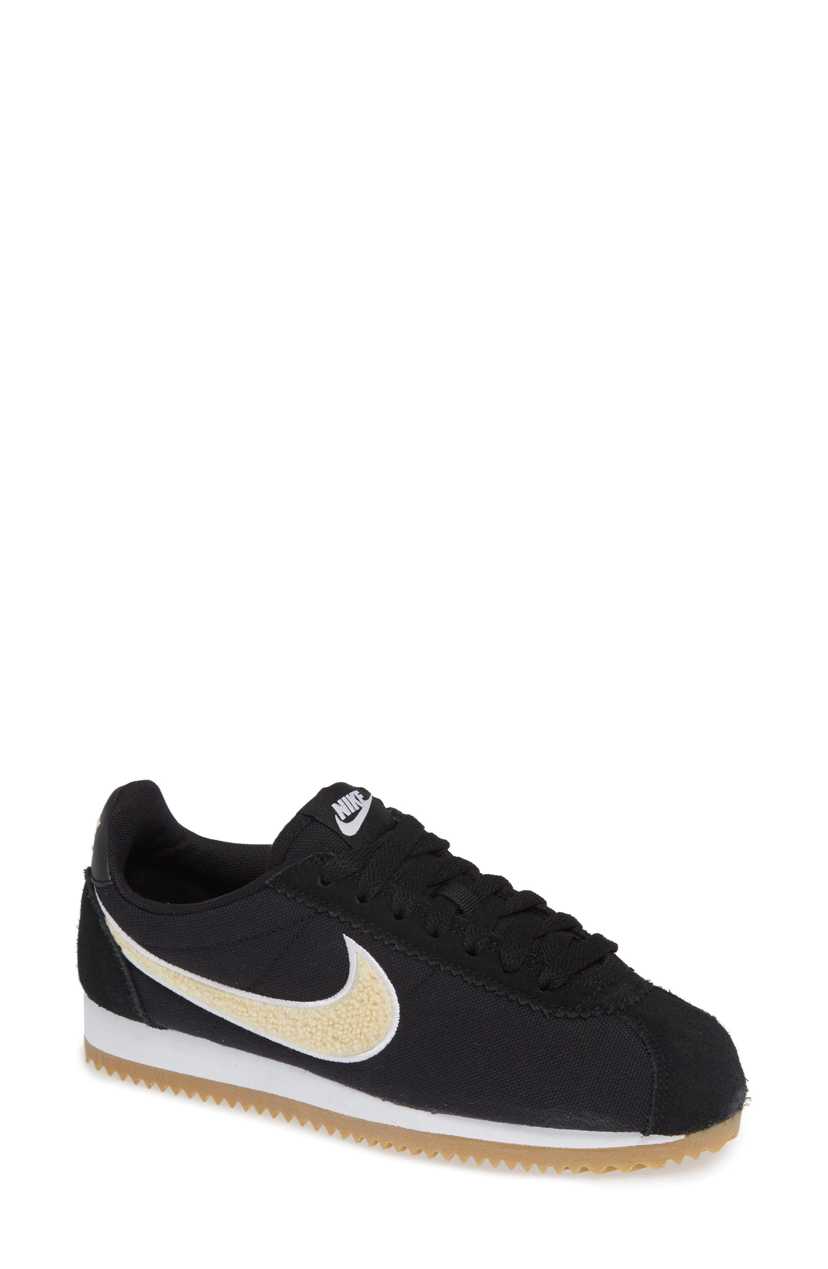 Classic Cortez Premium XLV Sneaker,                             Main thumbnail 1, color,                             Black/ Light Cream/ Brown