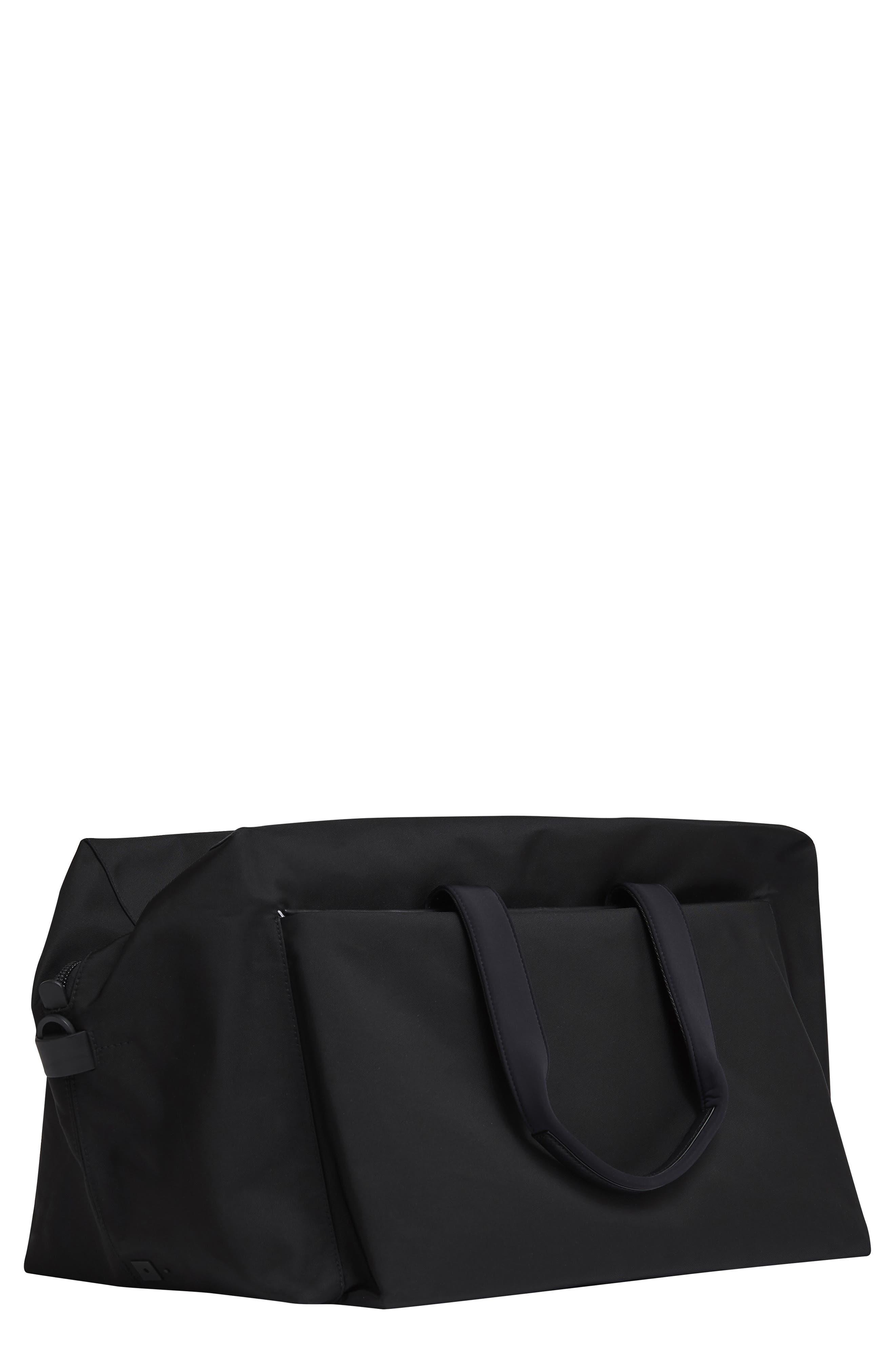 Lightweight Duffel Bag,                         Main,                         color, Black Nylon/ Black Leather