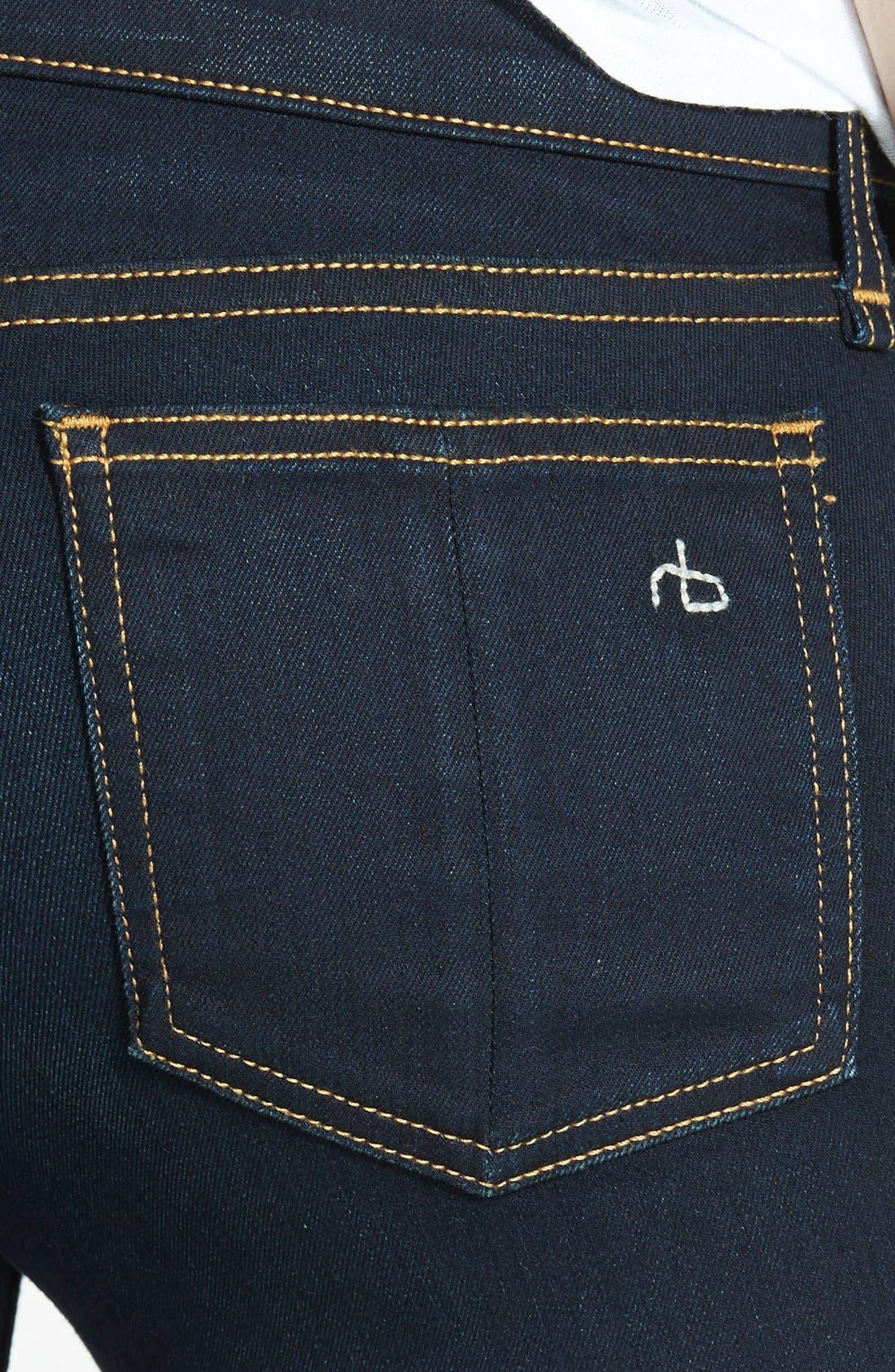 Alternate Image 3  - rag & bone/JEAN 'The Skinny' Mid Rise Jeans (Coventry)