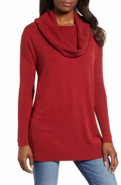 Caslon® Side Slit Convertible Cowl Neck Tunic (Regular   Petite) cb455c10a