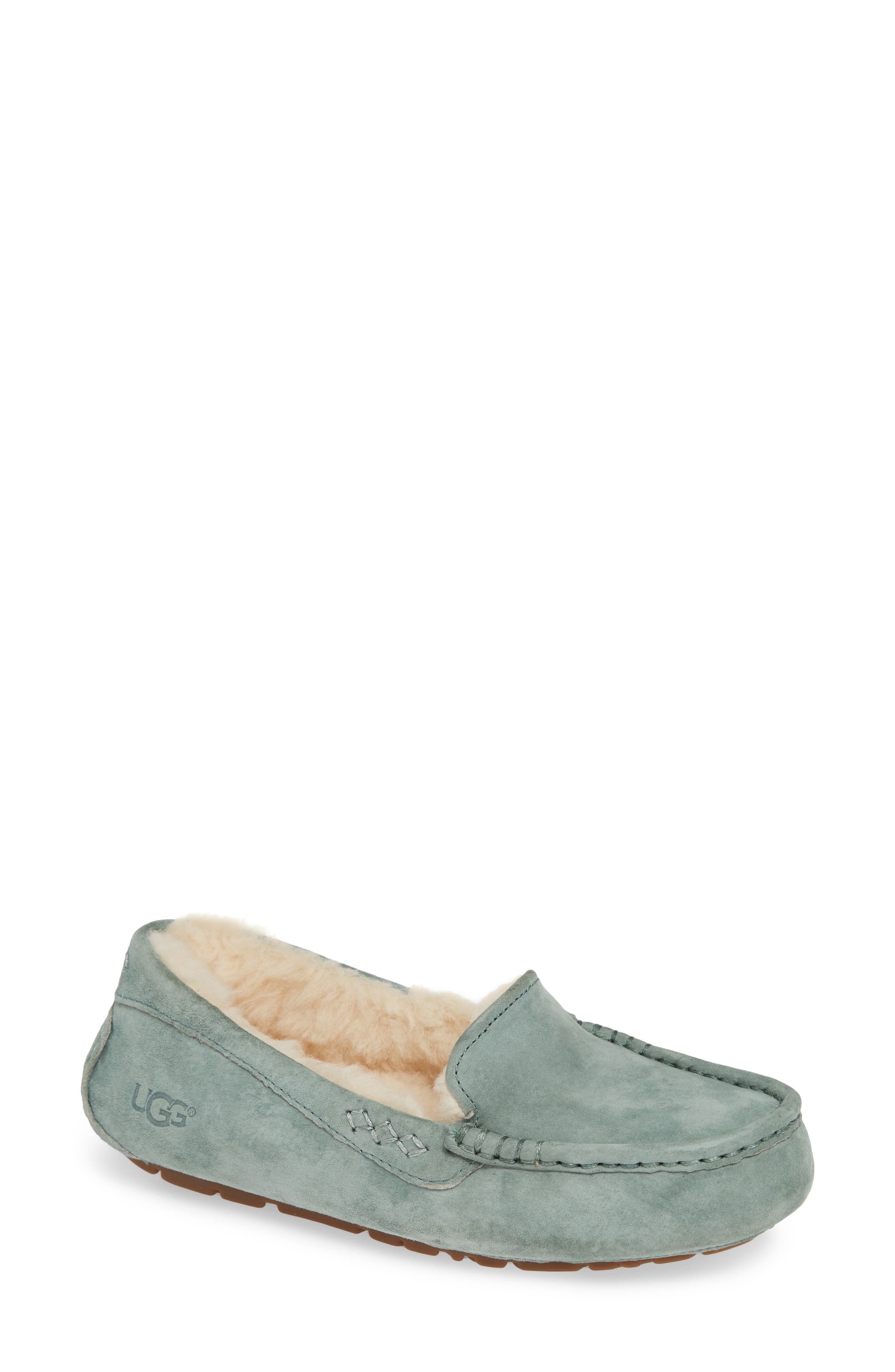 Ansley Water Resistant Slipper,                             Main thumbnail 1, color,                             Sea Green