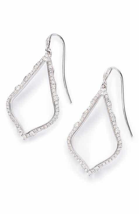 b87052339493 Kendra Scott Sophia Diamond   White Gold Drop Earrings