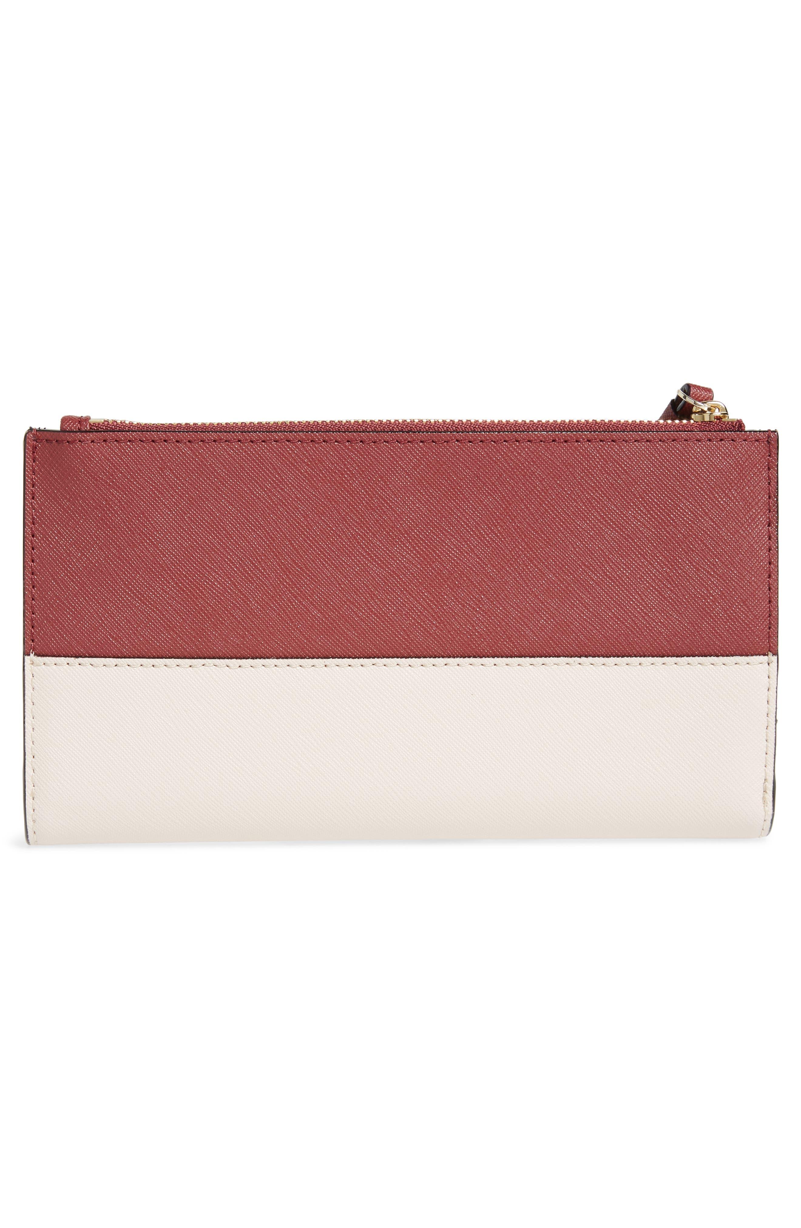 cameron street - eliza leather wallet,                             Alternate thumbnail 6, color,                             Sienna/ Tusk