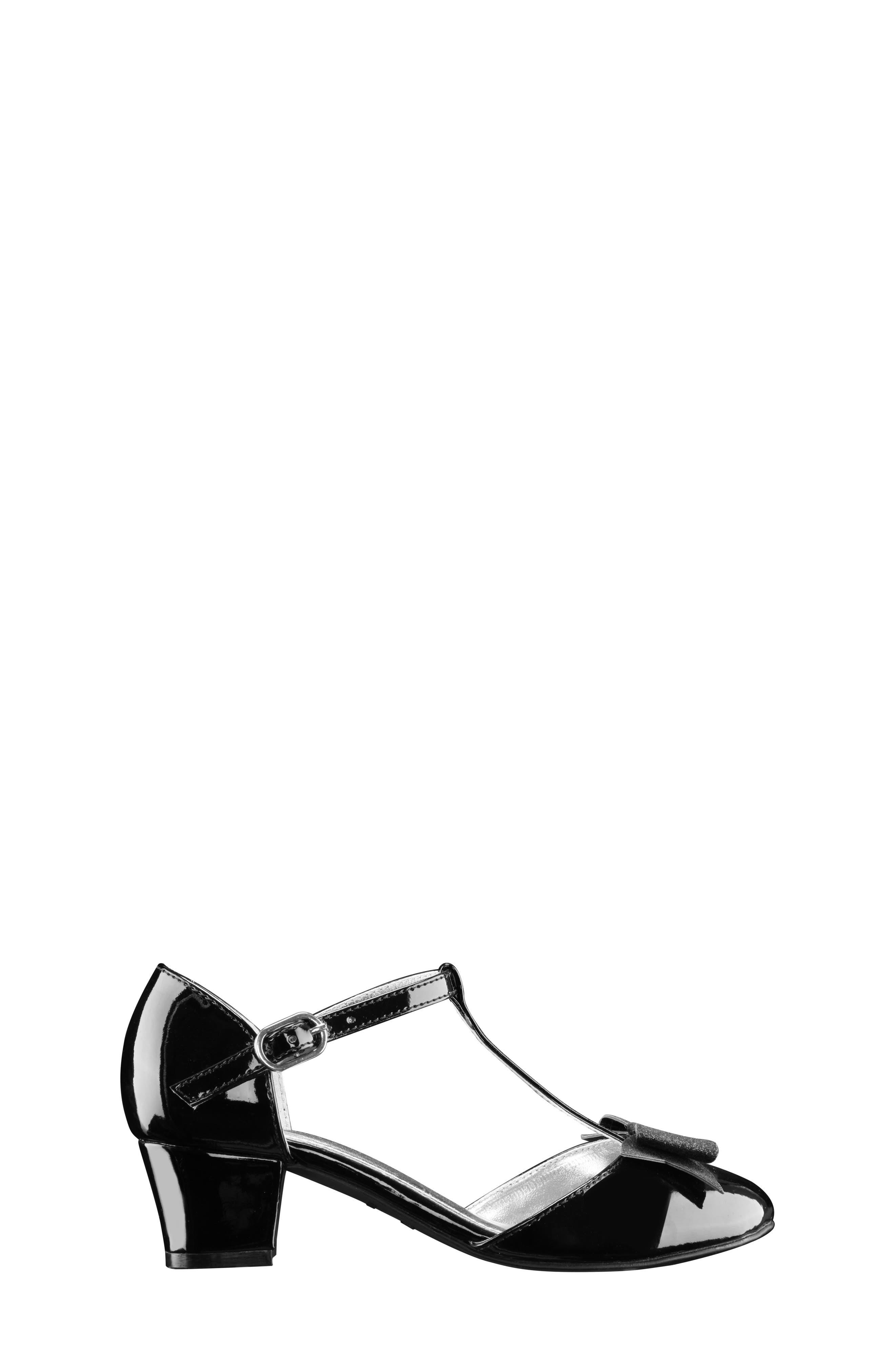 Marvette T-Strap Sandal,                             Alternate thumbnail 5, color,                             Black Patent