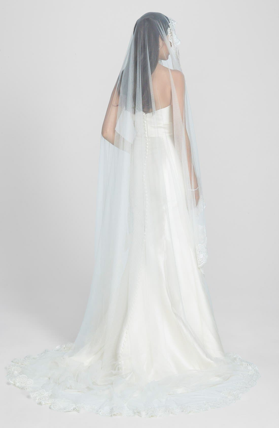 Nina Lace Border Mantilla Veil