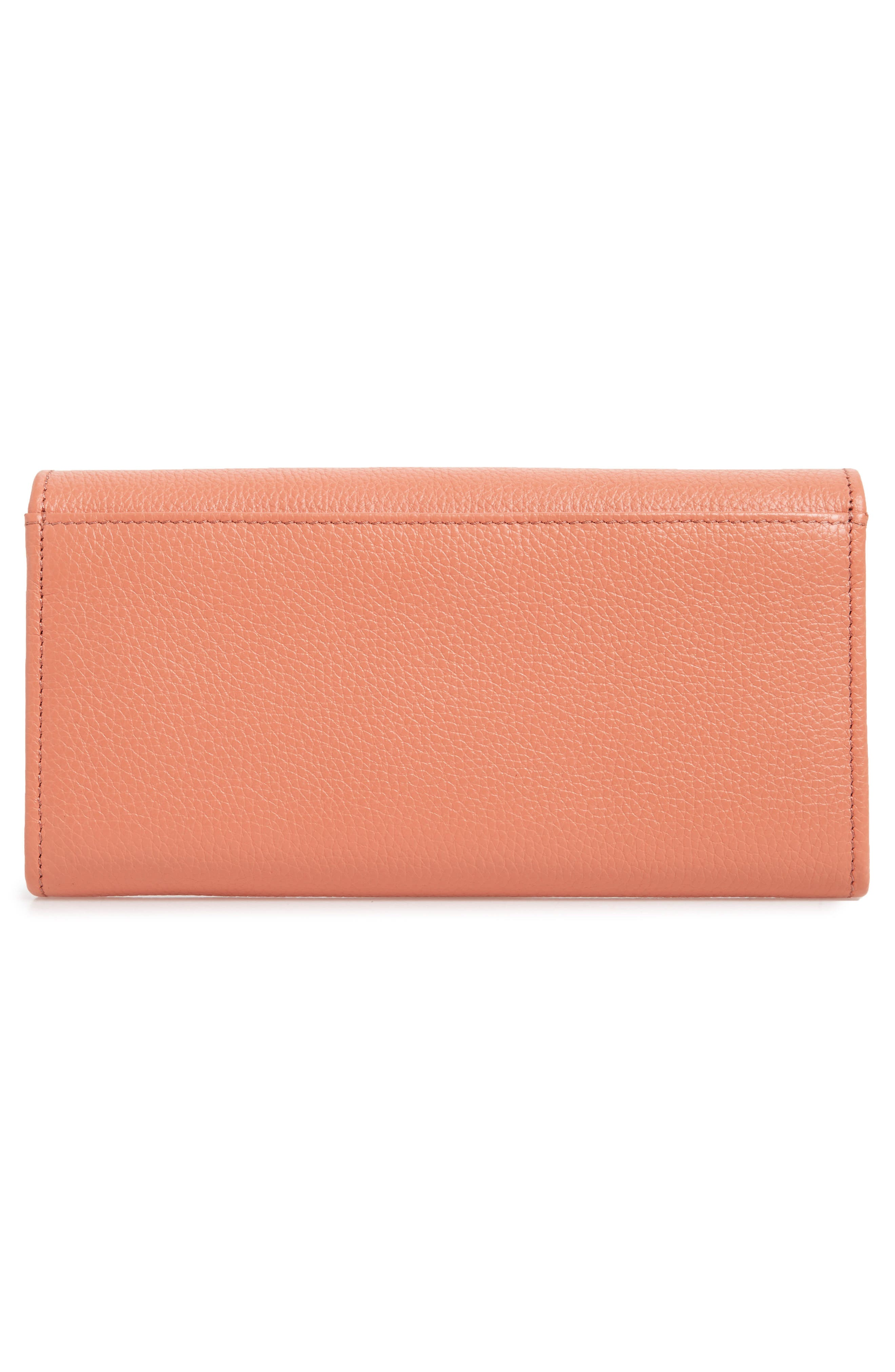 Lizzie Leather Continental Wallet,                             Alternate thumbnail 9, color,                             Canyon Sunset