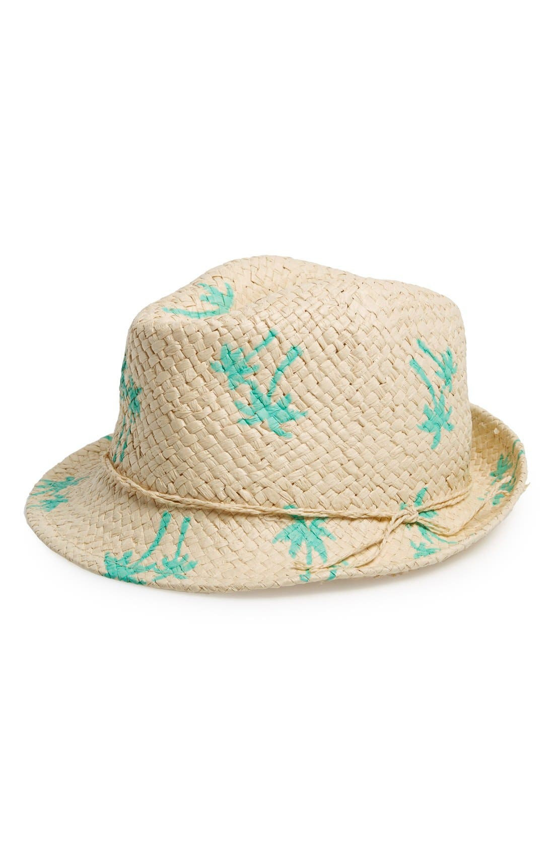 Main Image - David & Young Print Straw Fedora