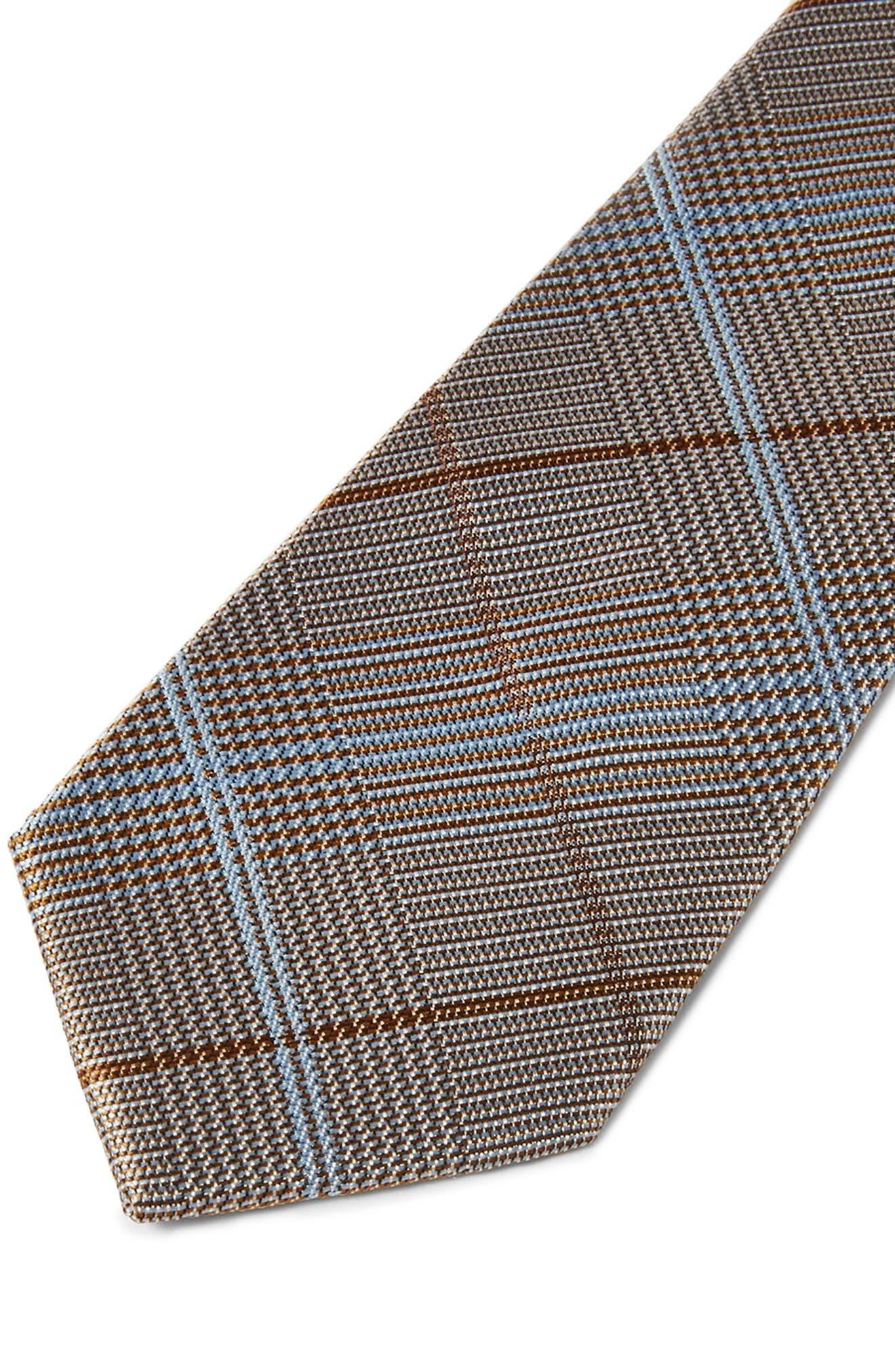 Plaid Tie,                             Alternate thumbnail 2, color,                             Grey