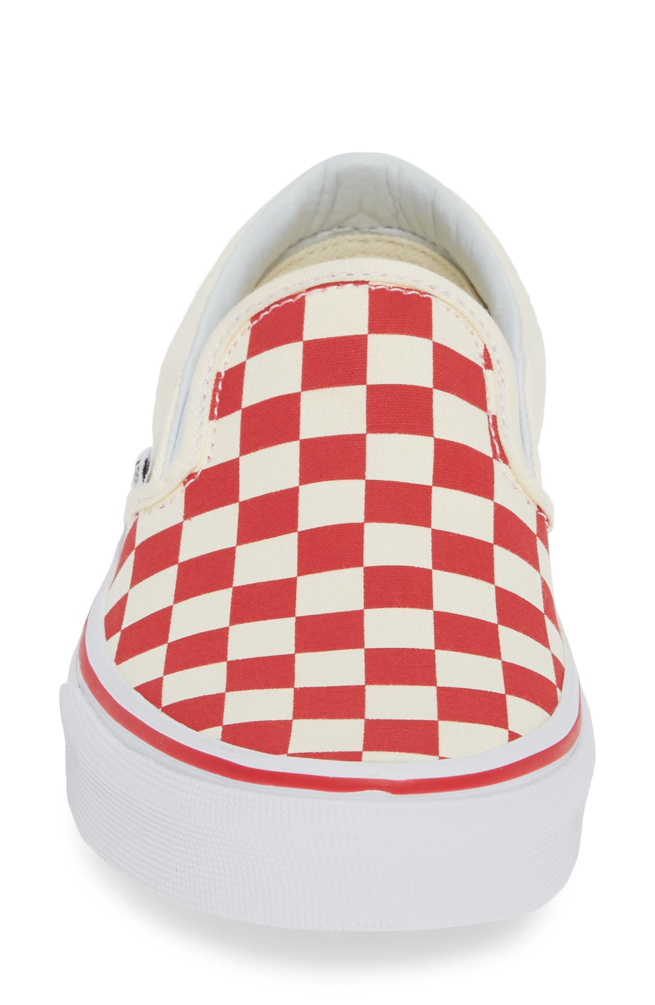 'Classic' Slip-On,                             Alternate thumbnail 3, color,                             Racing Red/ White