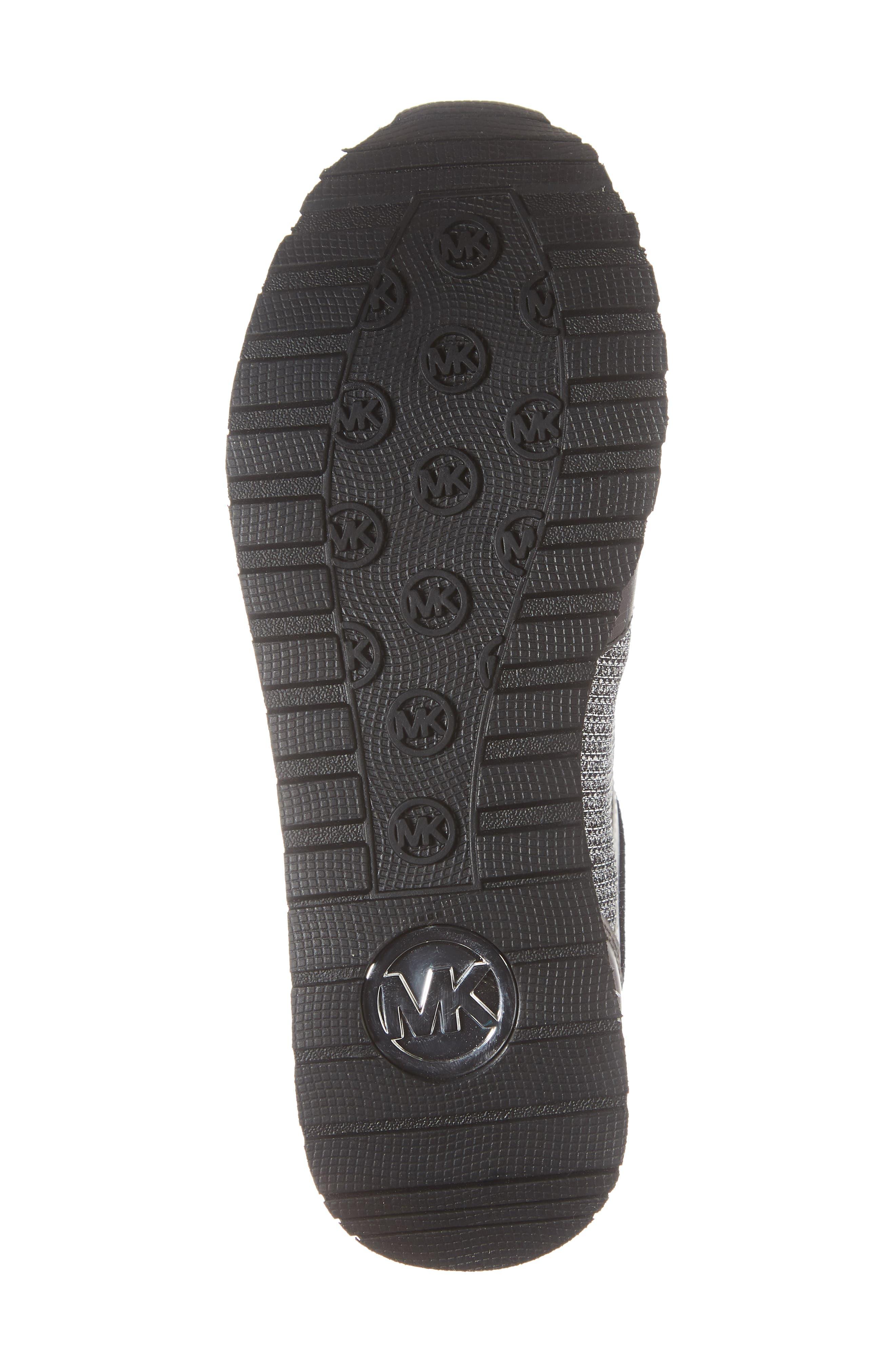 Billie Perforated Sneaker,                             Alternate thumbnail 5, color,                             Black/ Silver