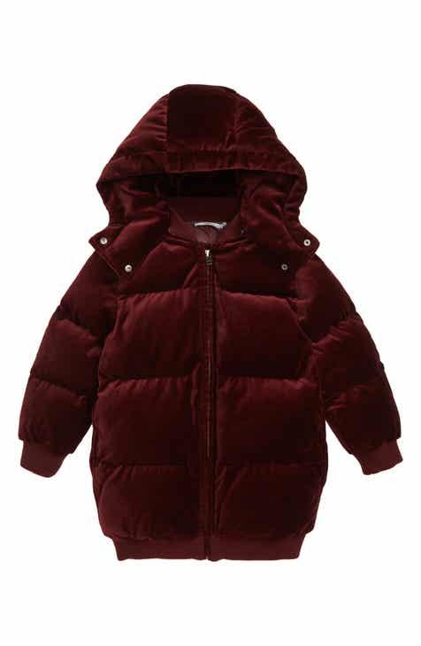 e8f417bf5be1 Stella McCartney Kids Ruby Velvet Puffer Jacket (Toddler Girls