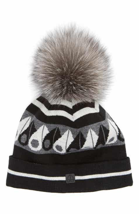fcd84001c63 Moose Knuckles Canuk Toque with Removable Genuine Fox Fur Pom