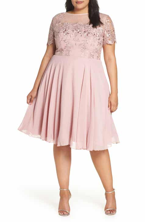 3ca0fd25ca5ab Chi Chi London Embroidered Bodice Party Dress (Plus Size)