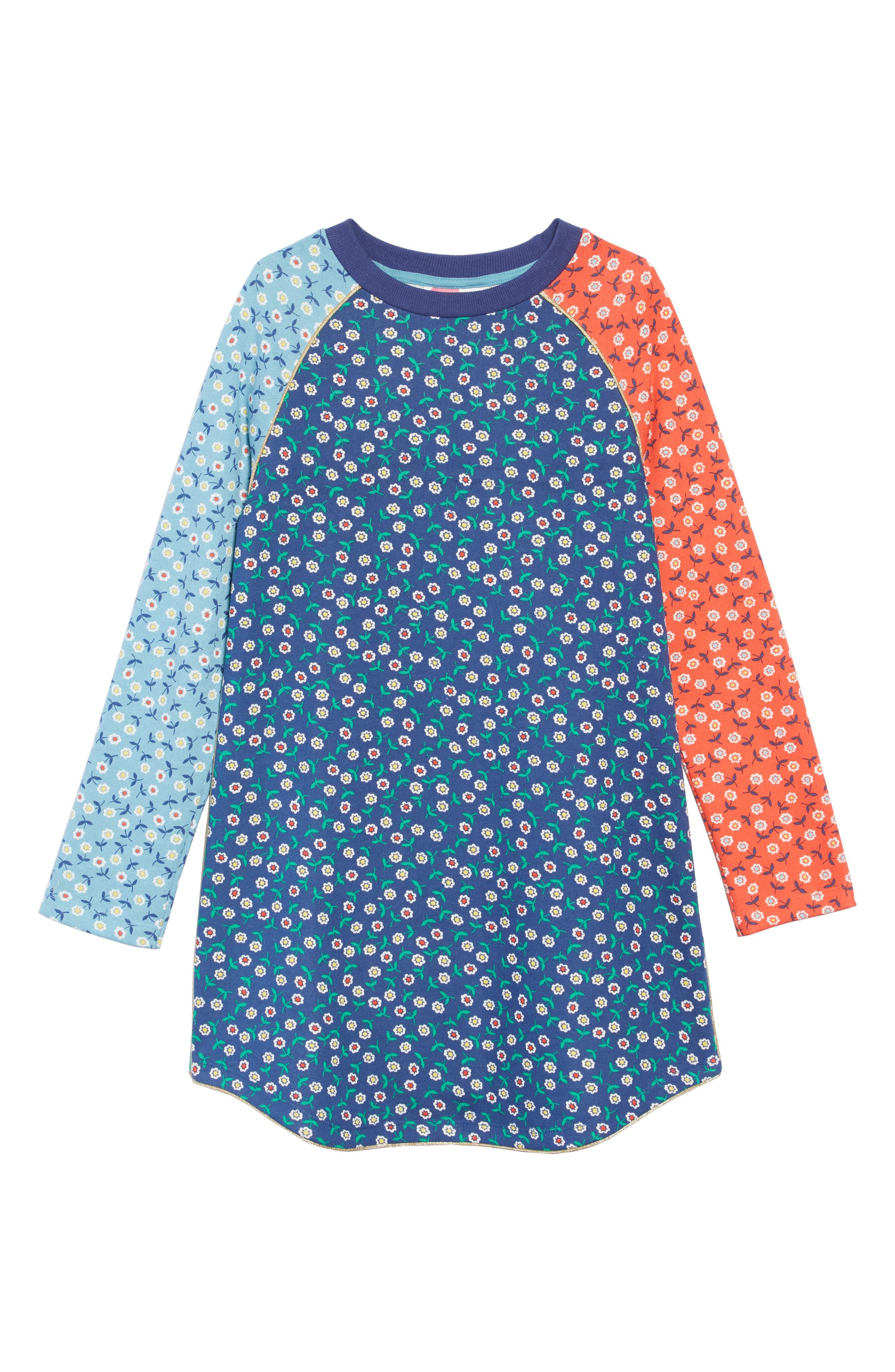 Cozy Sweatshirt Dress,                         Main,                         color, Multi Retro Daisies