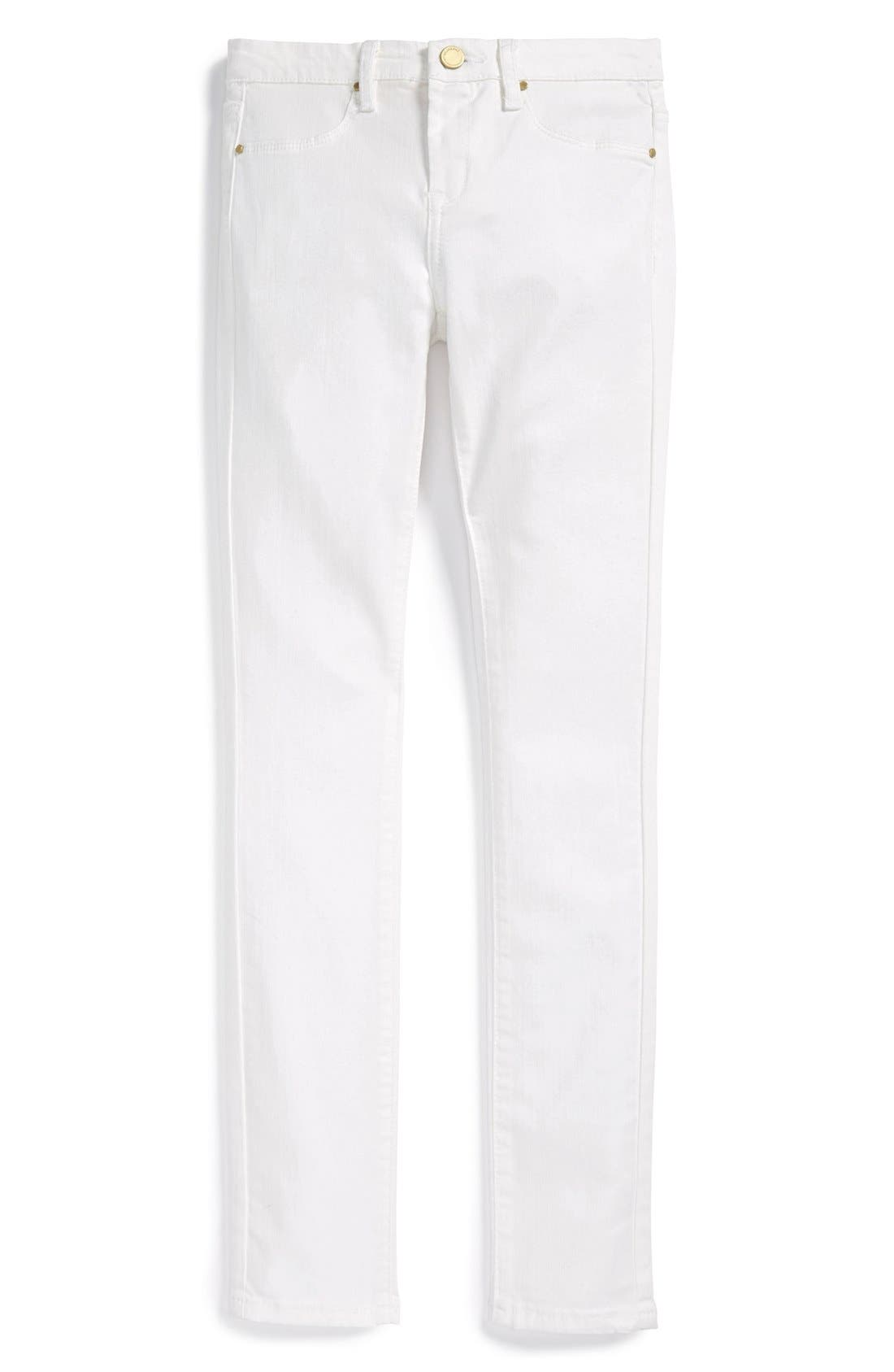 Stretch Denim Skinny Jeans,                             Main thumbnail 1, color,                             White