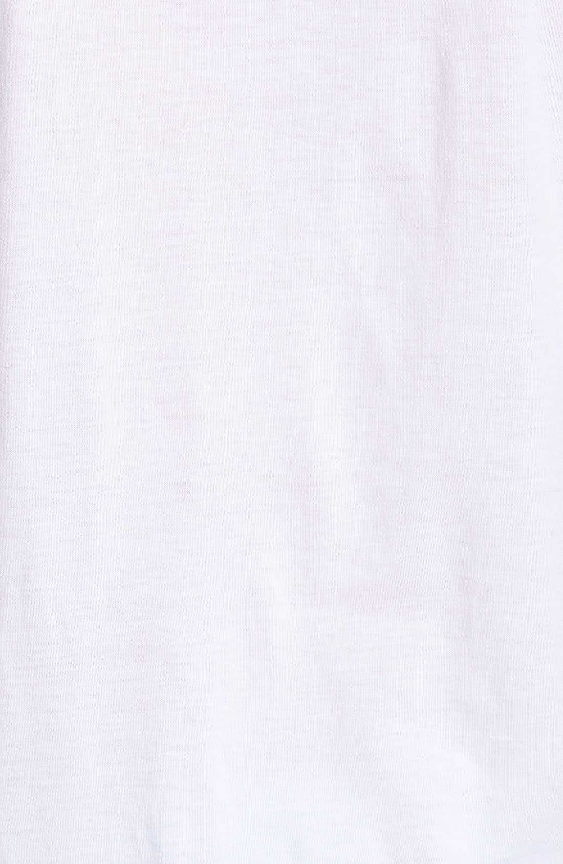 Supima<sup>®</sup> Cotton V-Neck T-Shirt,                             Alternate thumbnail 3, color,                             White