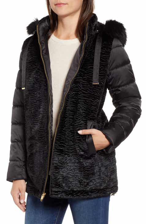 Via Spiga Mixed Media Puffer Jacket by VIA SPIGA