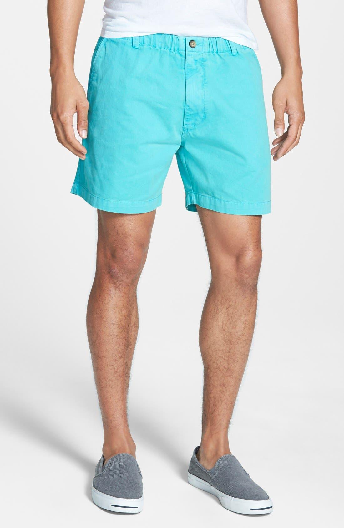 'Snappers' Vintage Wash Shorts,                         Main,                         color, Caribbean Blue