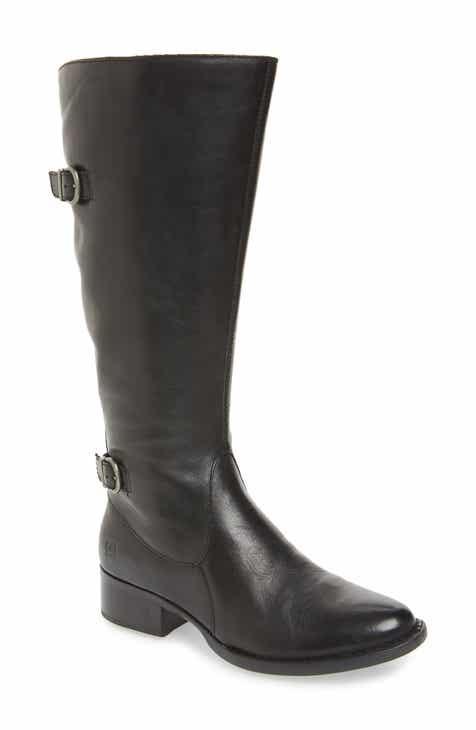 653cf172366 Børn Gibb Knee High Riding Boot (Women) (Wide Calf)