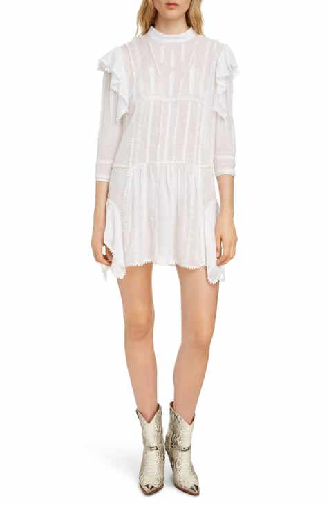 485666a08a3 Isabel Marant Étoile Alba Embroiered Ruffle Dress