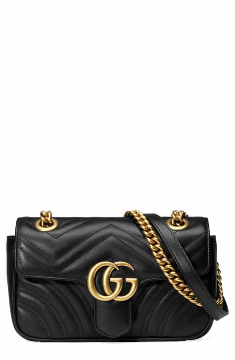 7bdfe9681ab3a3 Gucci Mini GG Marmont 2.0 Matelassé Leather Shoulder Bag