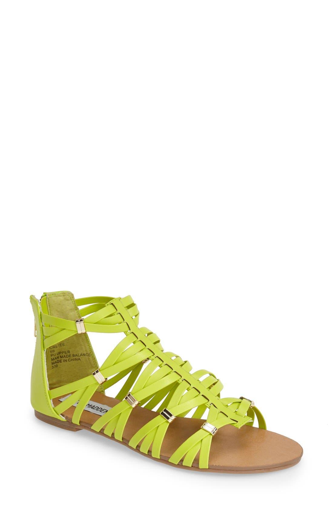 Alternate Image 1 Selected - Steve Madden 'Cretee' Strappy Gladiator Sandal (Women)