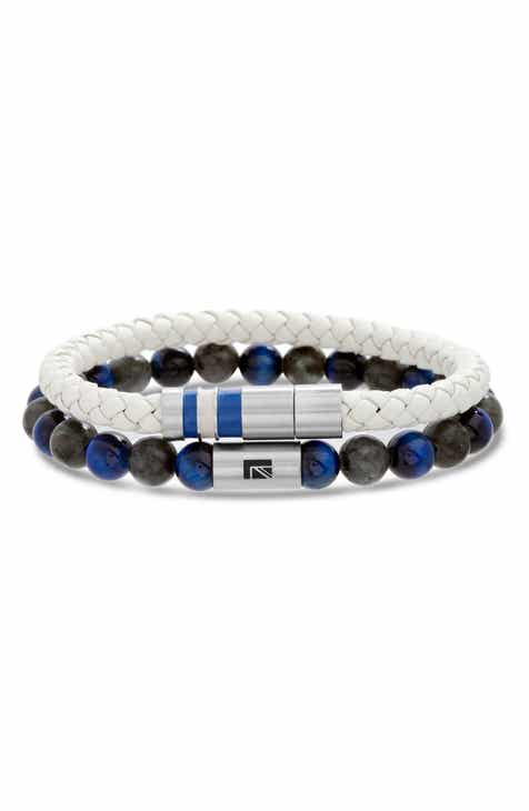 c599272964f93 Ben Sherman Leather   Bead Bracelet Set