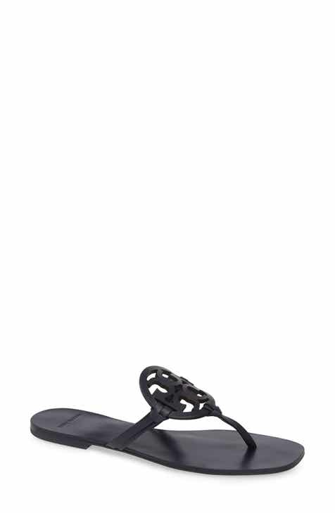 f9c50f2c490832 Tory Burch Miller Square Toe Thong Sandal (Women)