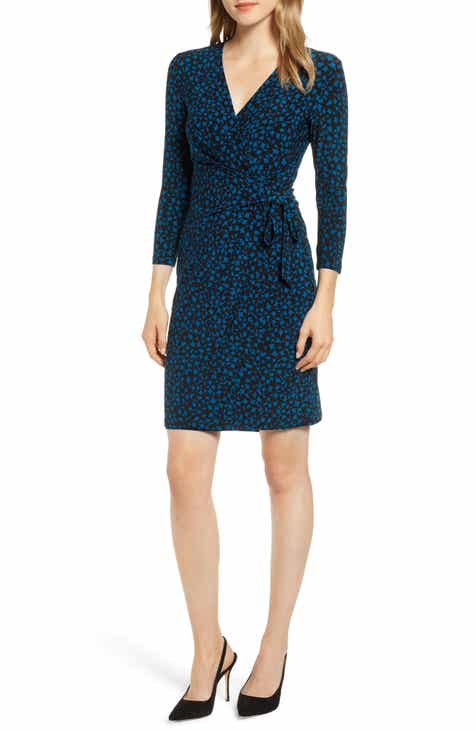 7185a894 Anne Klein Carousel Faux Wrap Dress