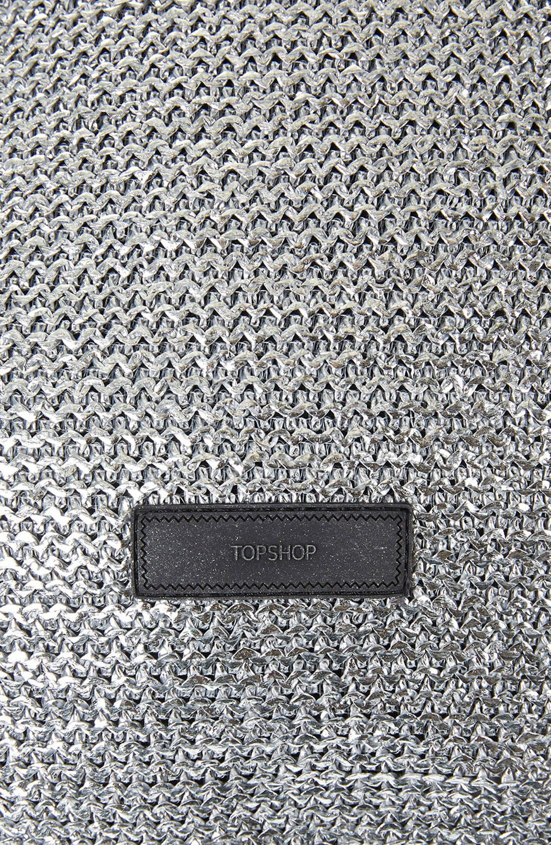 Alternate Image 4  - Topshop 'Metallix' Woven Drawstring Bag