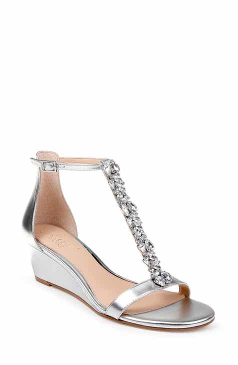d49d92c5a2e1 Jewel Badgley Mischka Darrell Embellished Wedge Sandal (Women)