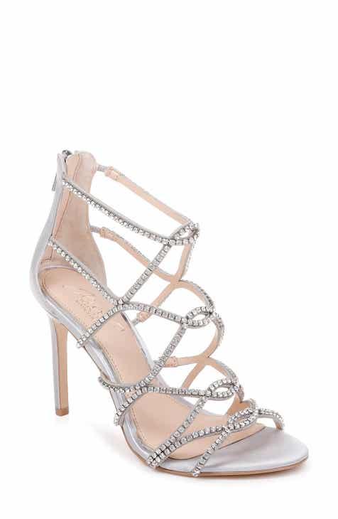 fafd3af2c53 Jewel Badgley Mischka Delancey Crystal Embellished Cage Sandal (Women)