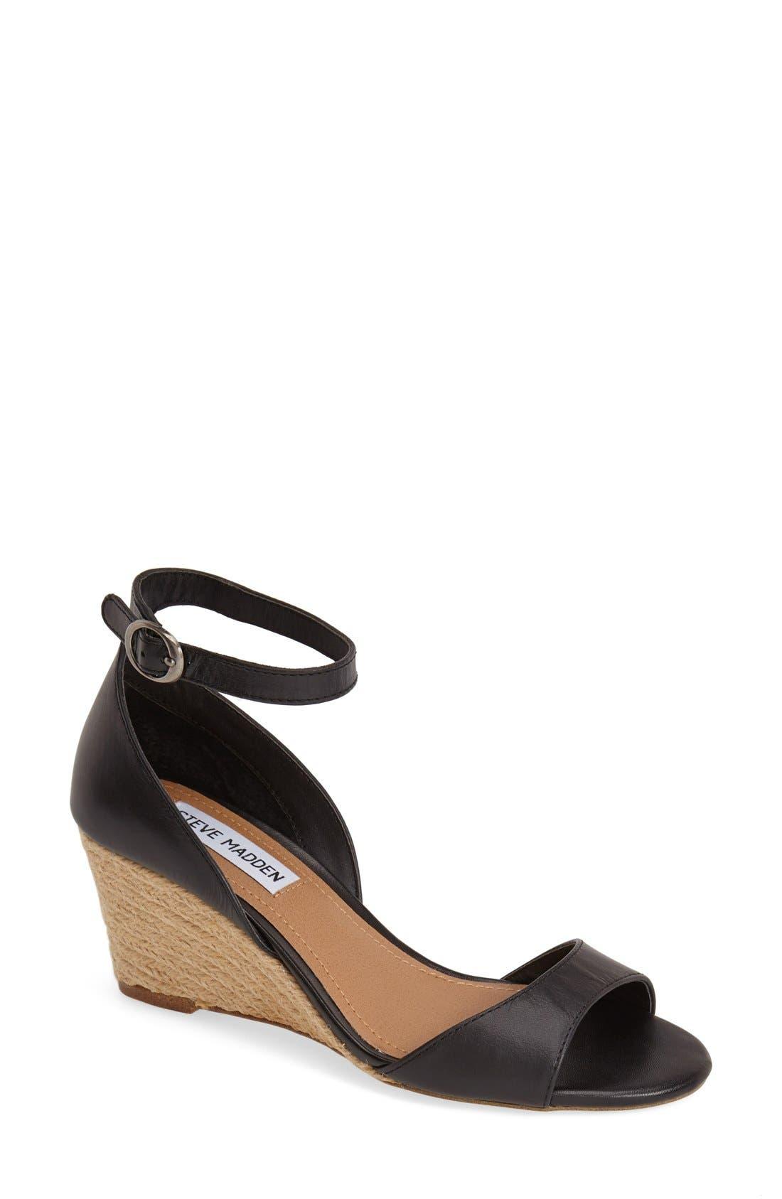Alternate Image 1 Selected - Steve Madden 'Picnicc' Espadrille Wedge Sandal (Women)