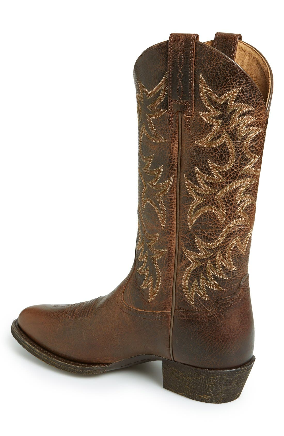 Alternate Image 2  - Ariat 'Heritage R-Toe' Leather Cowboy Boot (Men)