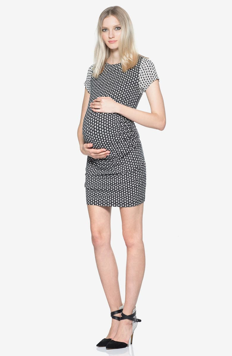 Leilah Body-Con Print Maternity Dress
