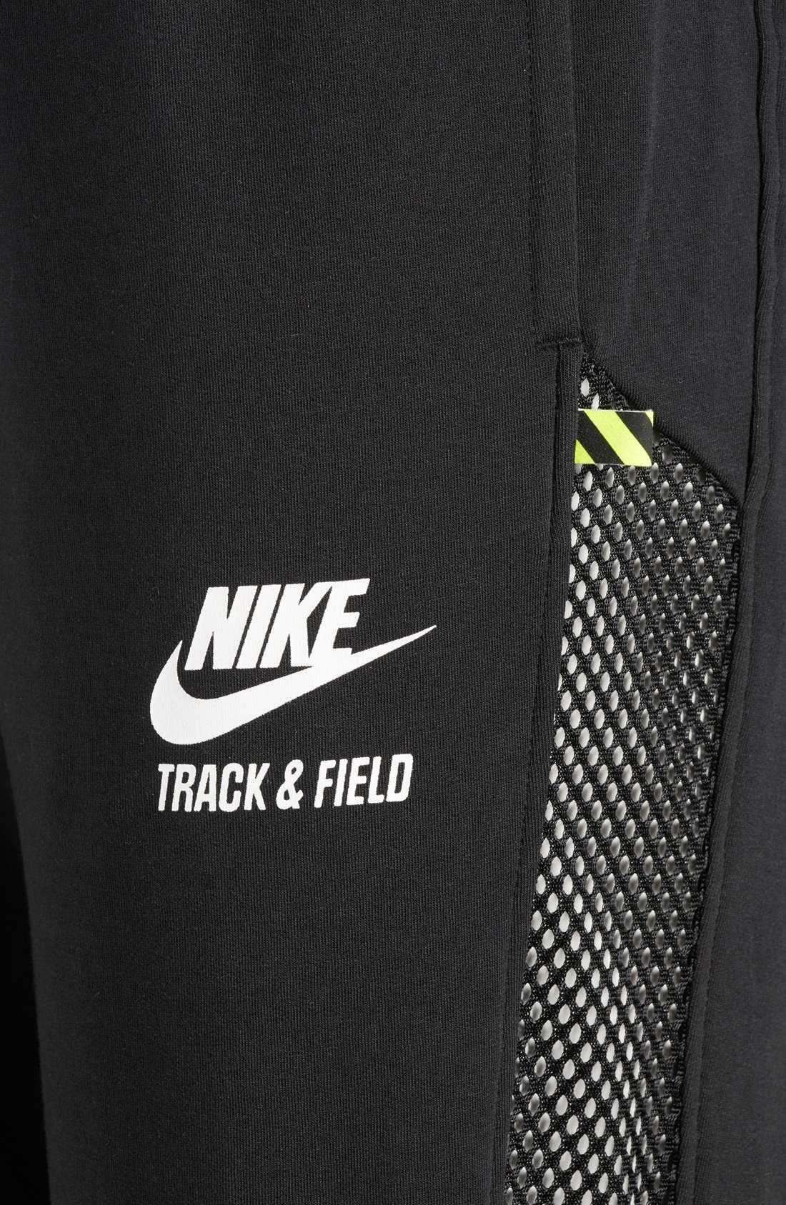 Alternate Image 7  - Nike 'RU Mesh Mix' Cuffed Sweatpants (Women)