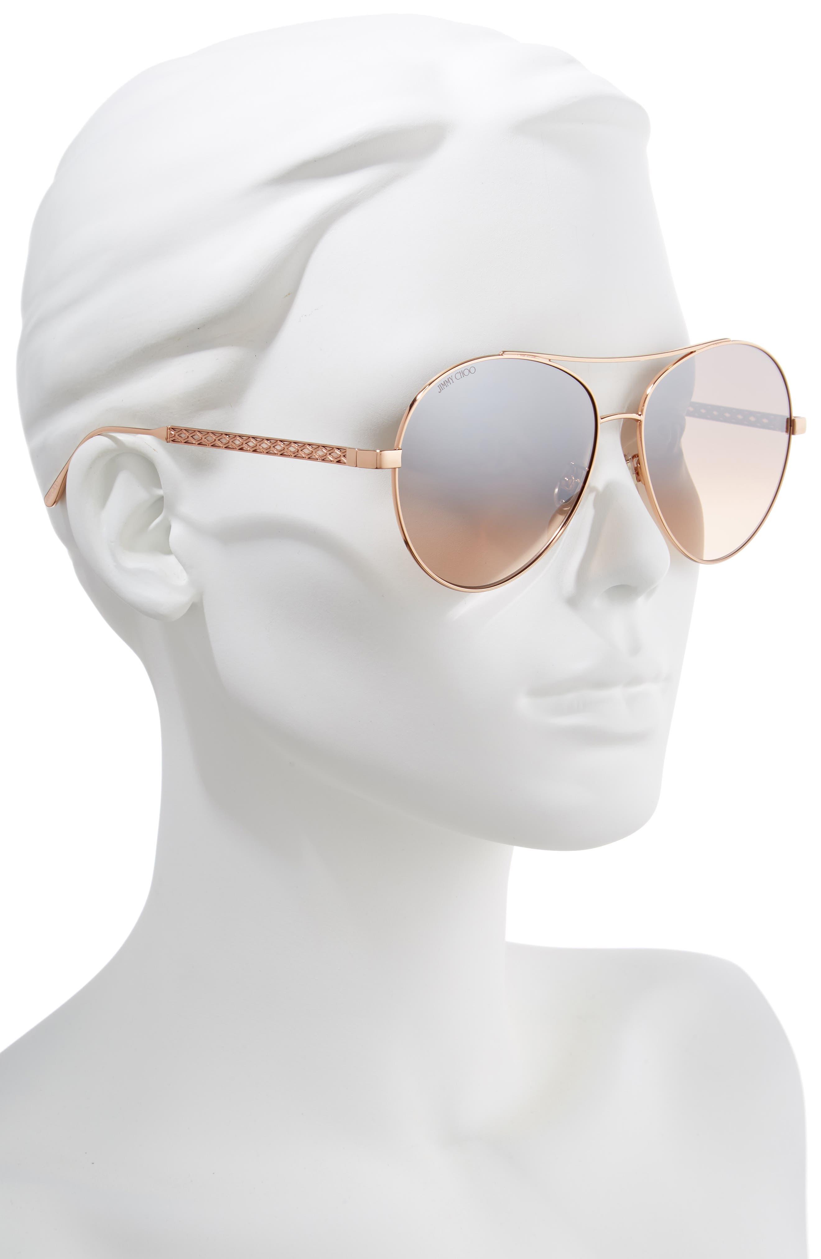 ddc855acf2abc Jimmy Choo Aviator Sunglasses