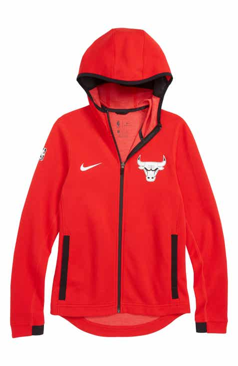 Nike Chicago Bulls Showtime Dri-FIT Zip Hoodie (Big Boys)