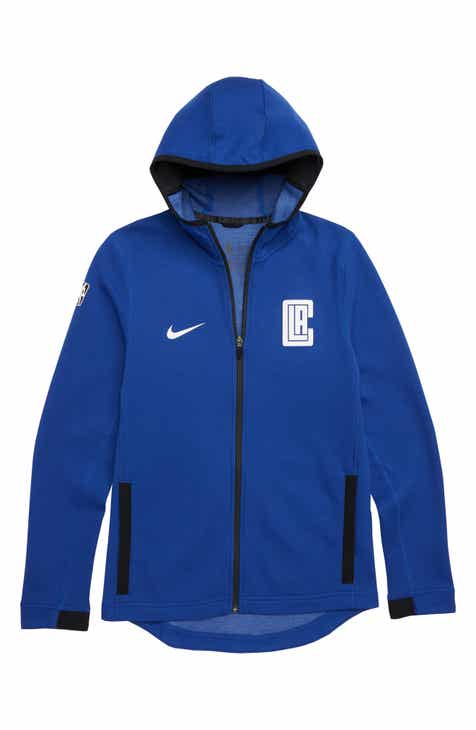 Nike Los Angeles Clippers Showtime Dri-FIT Hoodie (Big Boys)