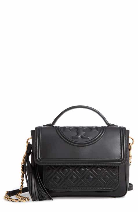 53c73de90a4c Tory Burch Fleming Quilted Leather Top Handle Satchel