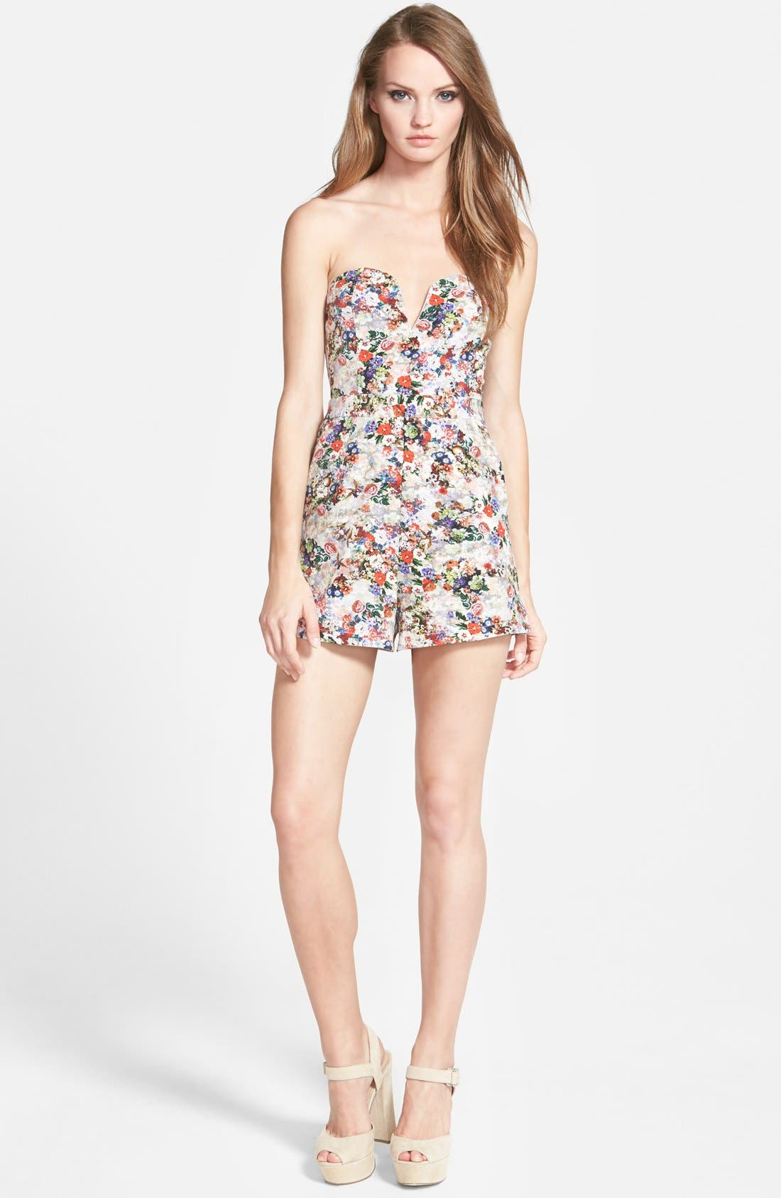 Alternate Image 1 Selected - Glamorous Strapless Sweetheart Romper
